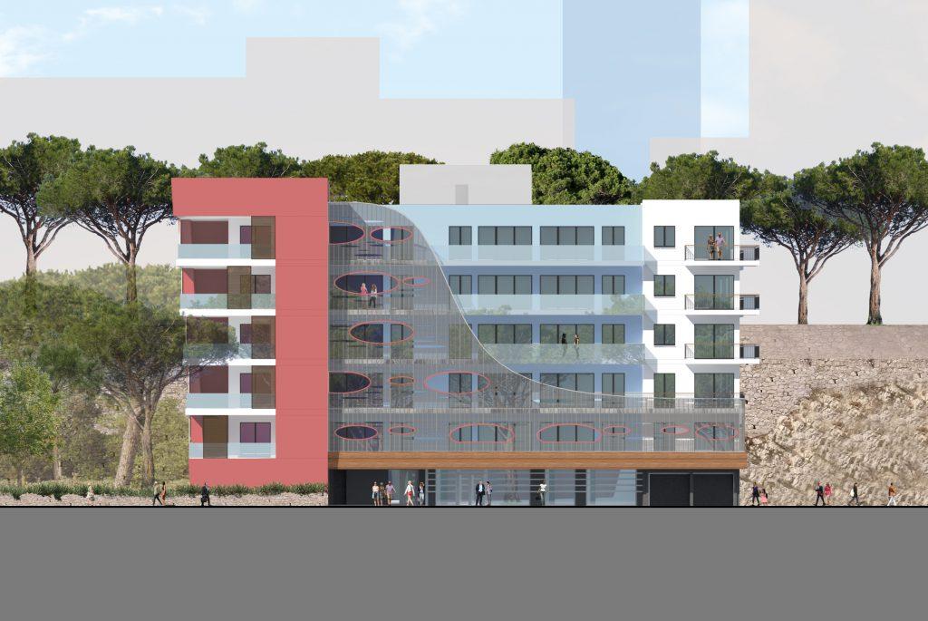 Projet d 39 immeuble modulaire de logements groupement e c for Architecture modulaire